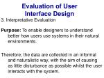 evaluation of user interface design38