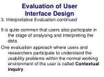 evaluation of user interface design39