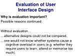 evaluation of user interface design4