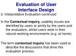 evaluation of user interface design40
