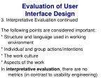 evaluation of user interface design41