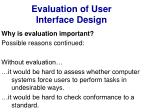evaluation of user interface design5