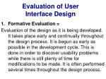 evaluation of user interface design8