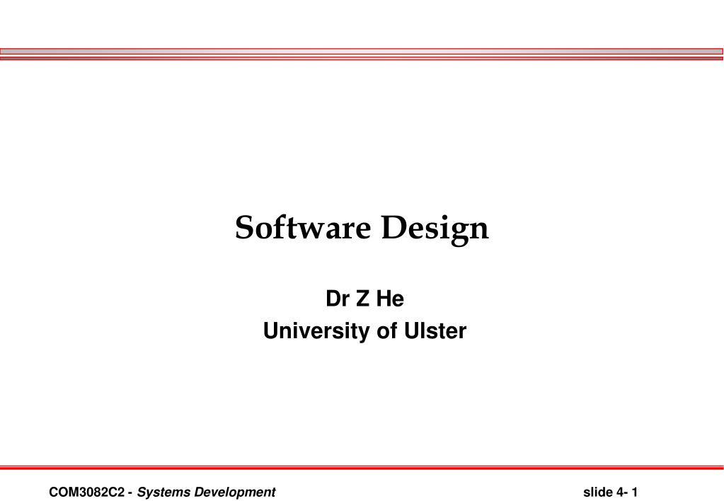 software design l.
