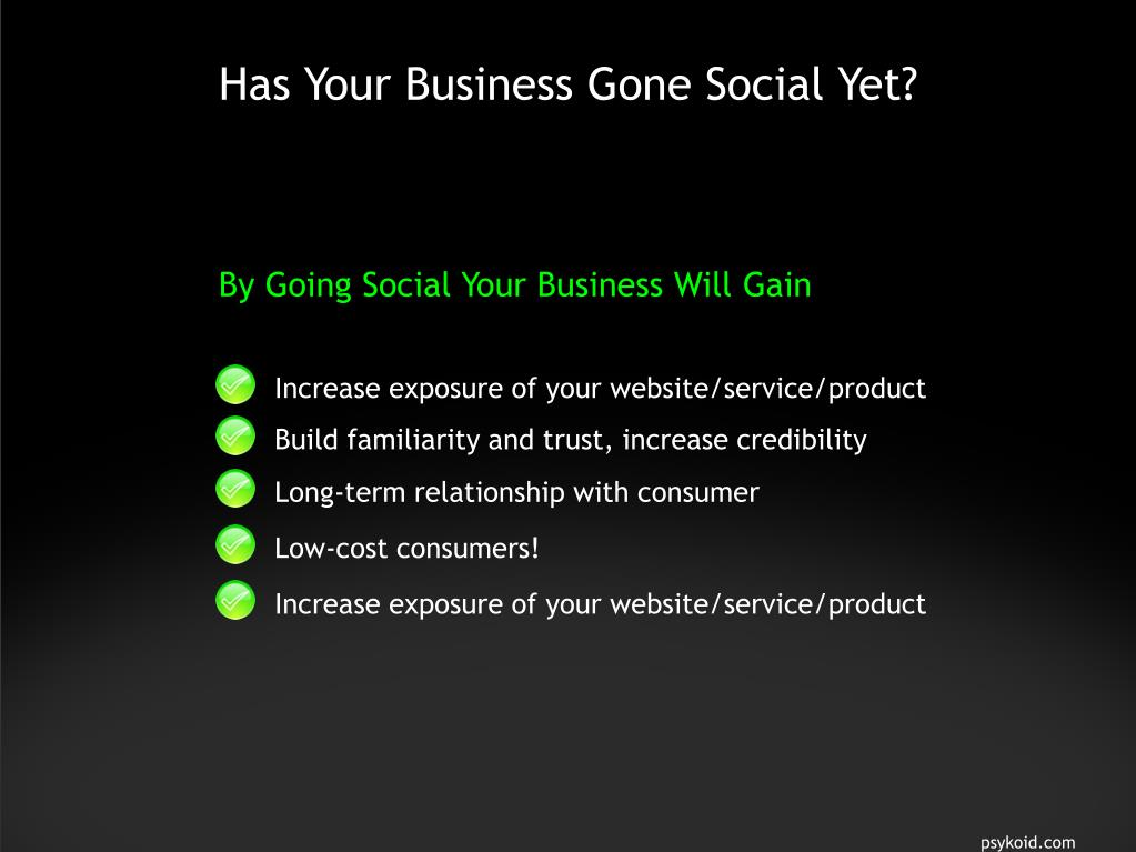Has Your Business Gone Social Yet?