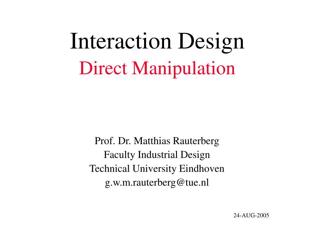 interaction design direct manipulation l.