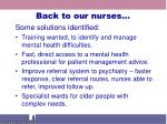 back to our nurses
