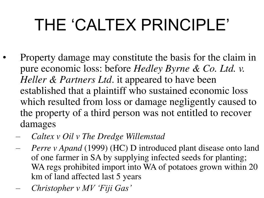 THE 'CALTEX PRINCIPLE'