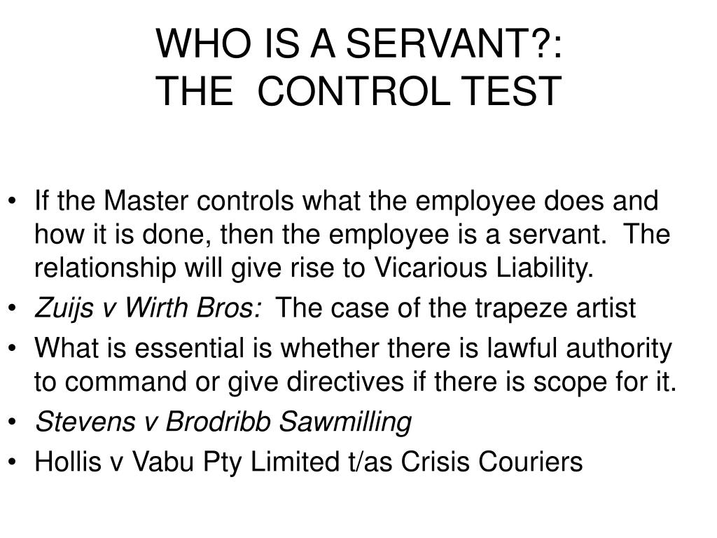 WHO IS A SERVANT?: