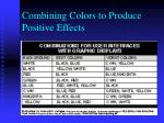 combining colors to produce positive effects