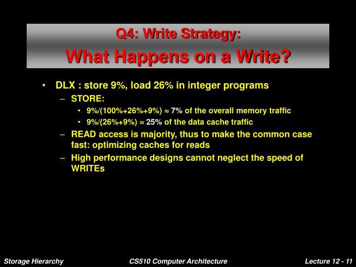 Q4: Write Strategy: