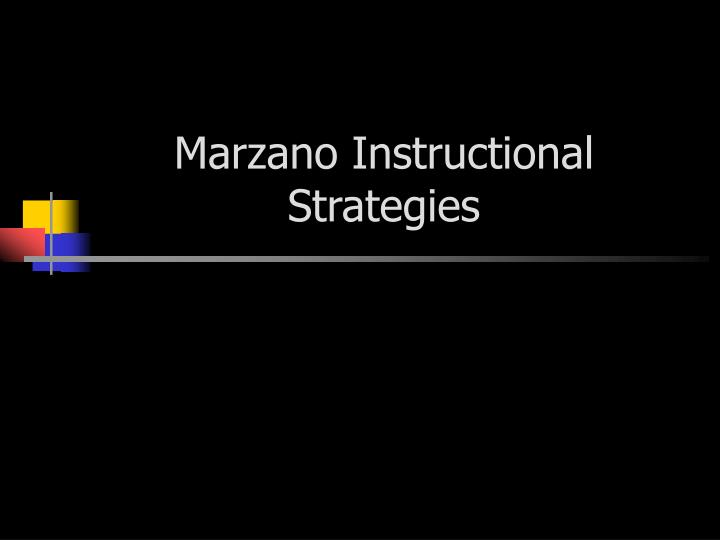 marzano instructional strategies n.