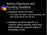 setting objectives and providing feedback3