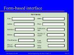 form based interface