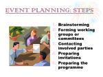 event planning steps