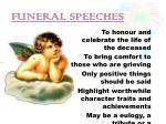 funeral speeches