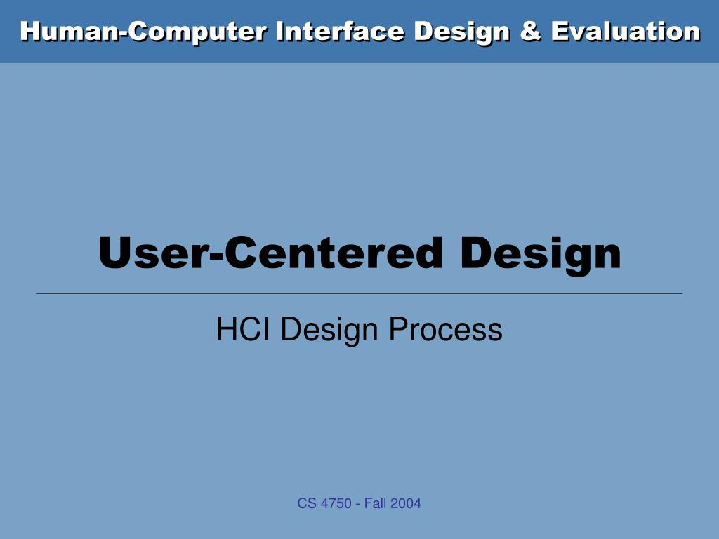 user centered design l.