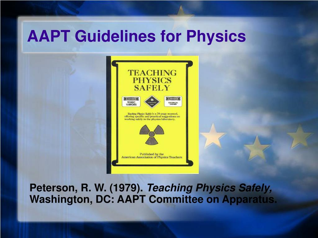 AAPT Guidelines for Physics