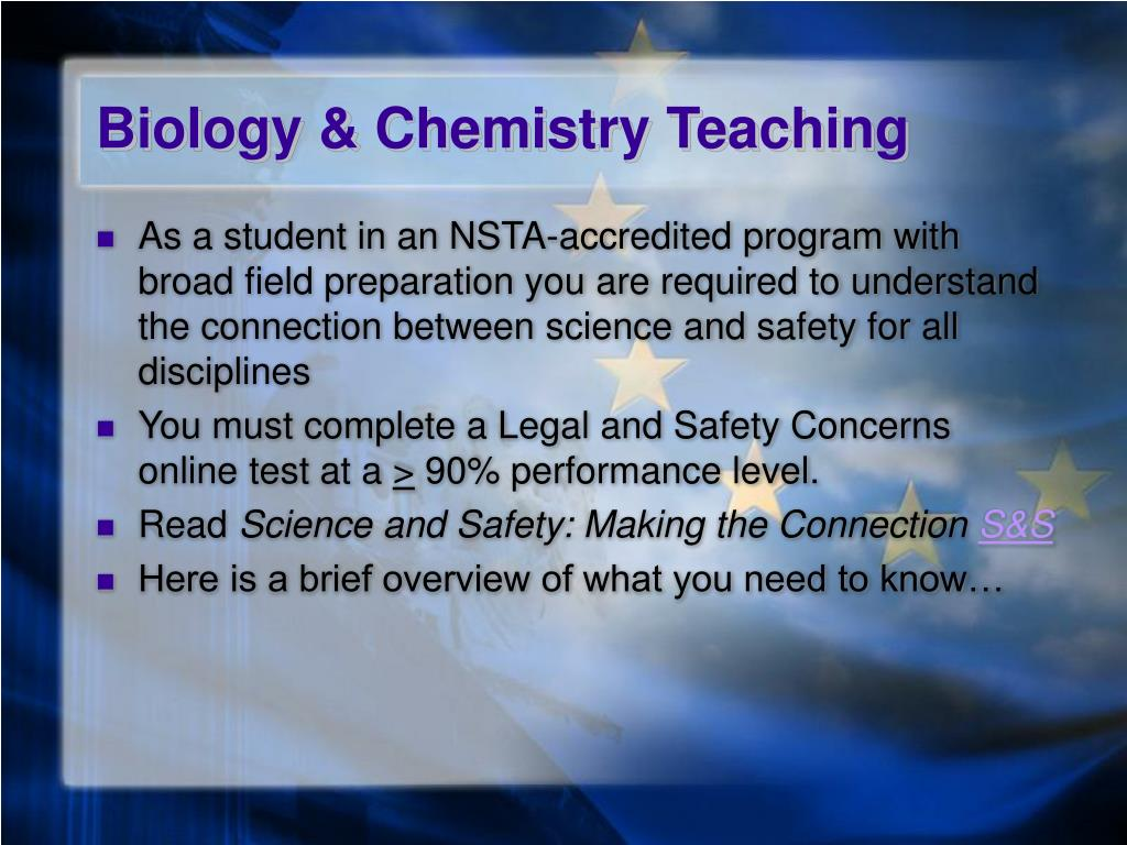 Biology & Chemistry Teaching