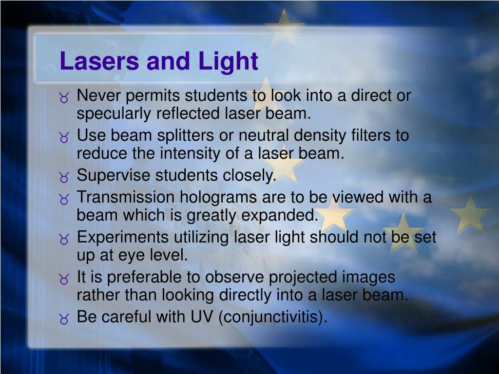 Lasers and Light