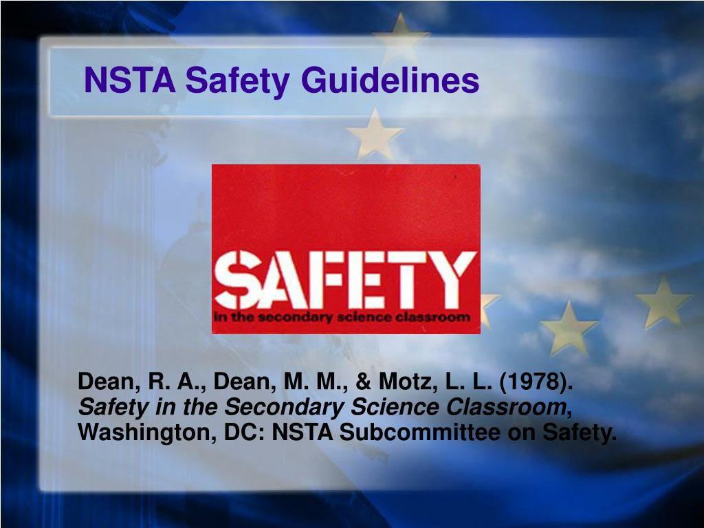 NSTA Safety Guidelines