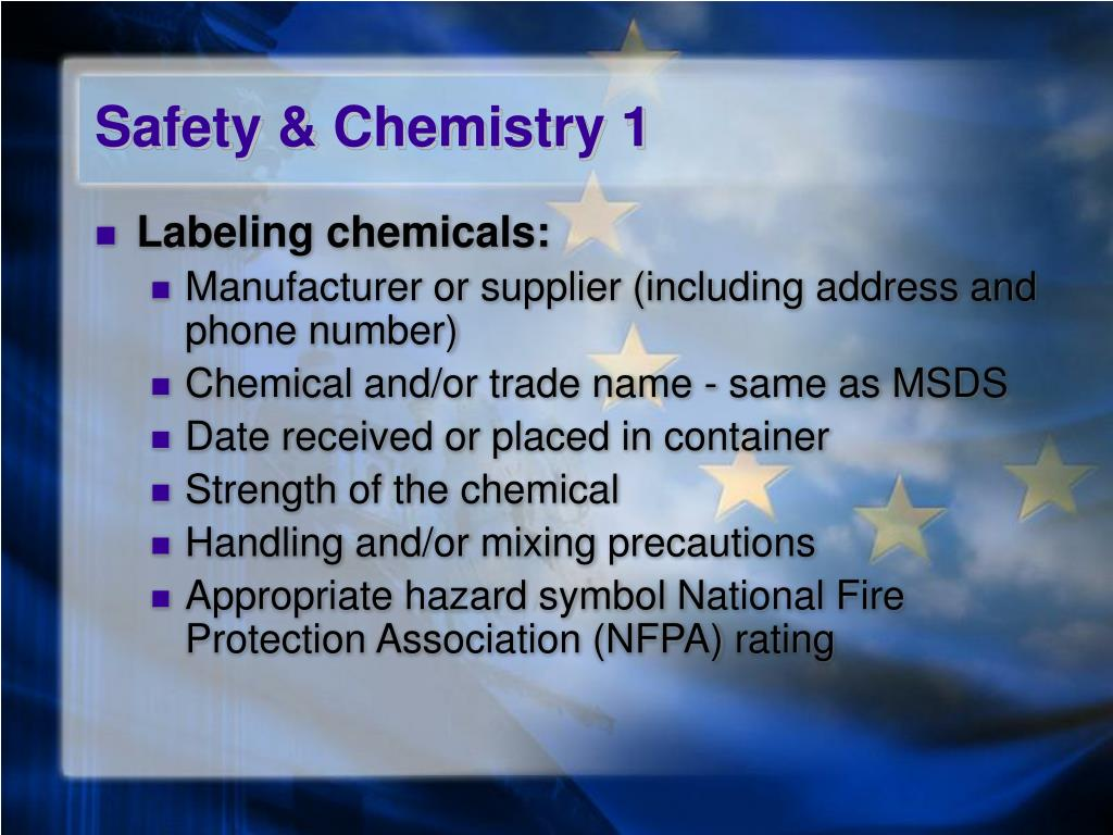 Safety & Chemistry 1