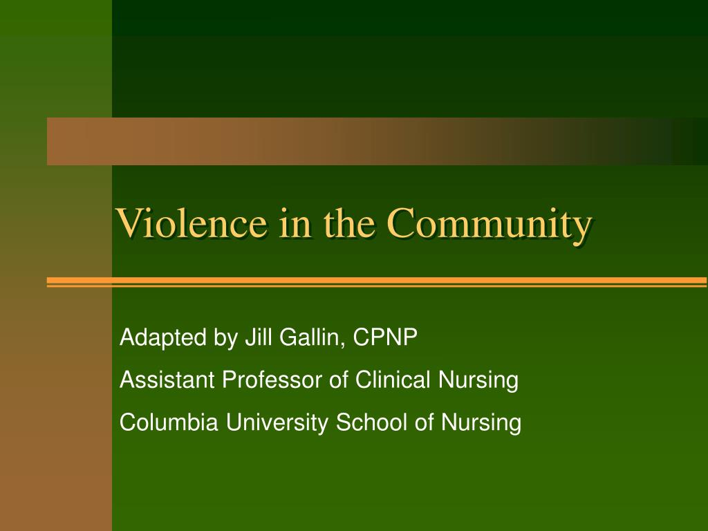 violence in the community