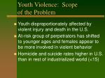 youth violence scope of the problem