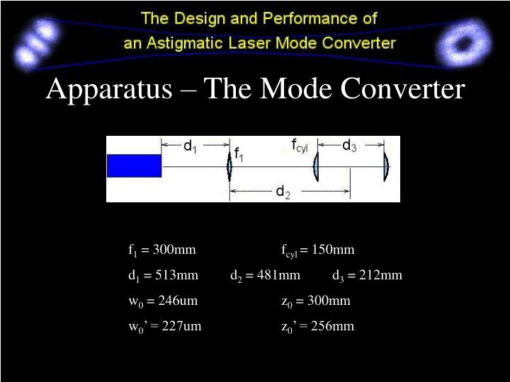 Apparatus – The Mode Converter