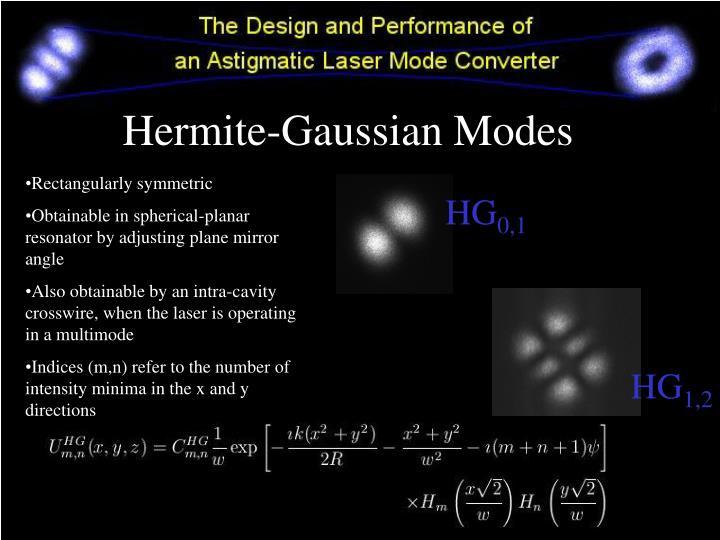 Hermite gaussian modes