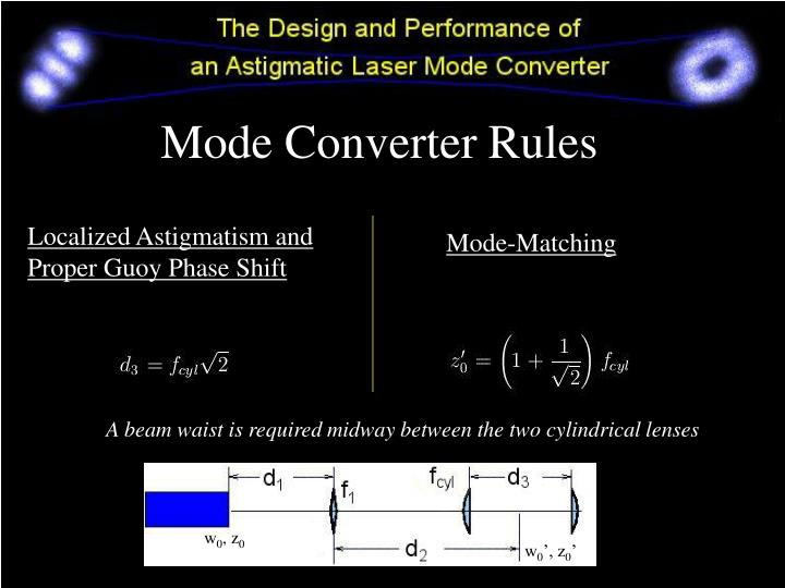Mode Converter Rules