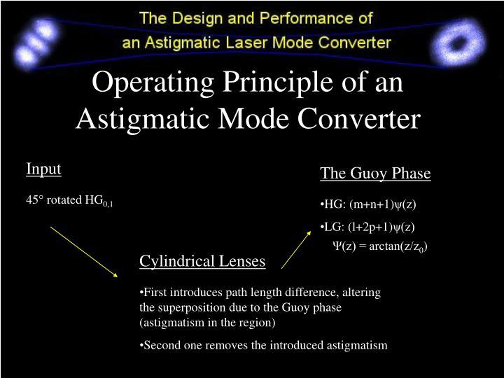Operating Principle of an Astigmatic Mode Converter