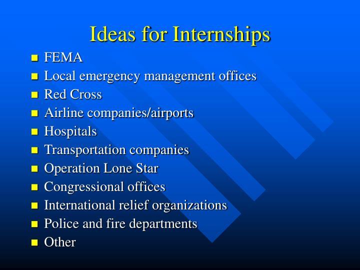 Ideas for Internships