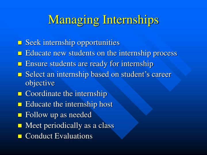Managing Internships
