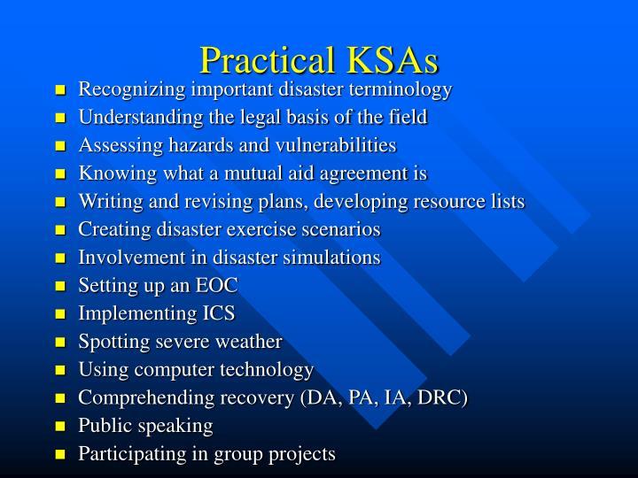 Practical KSAs