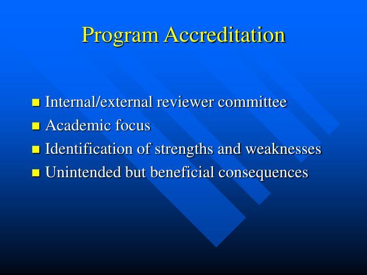 Program Accreditation
