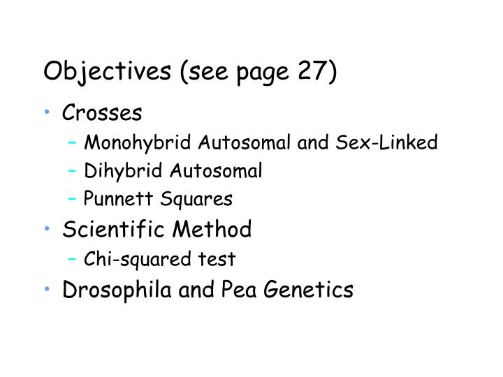 Objectives see page 27