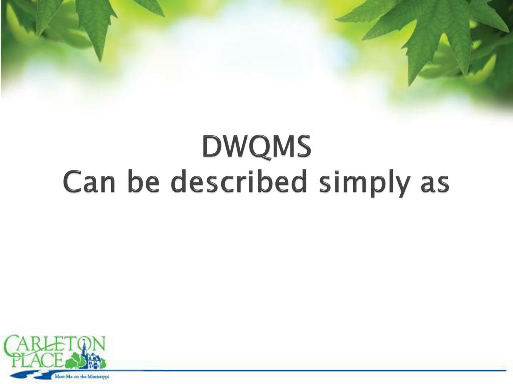 DWQMS