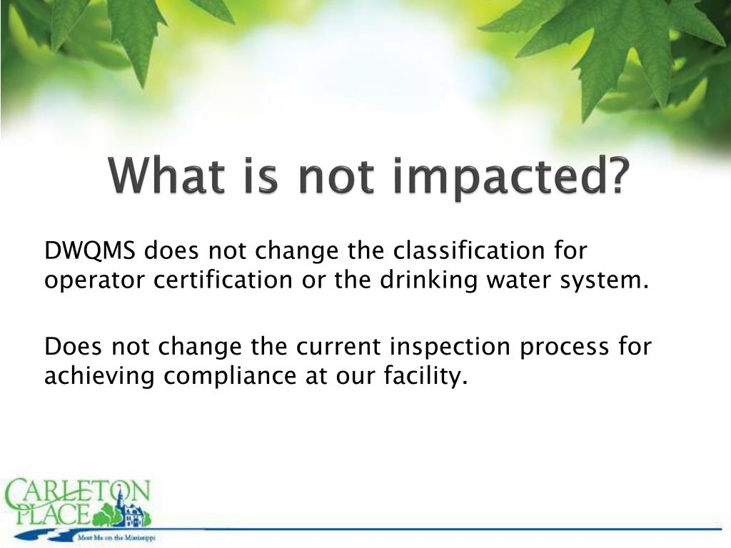 What is not impacted?