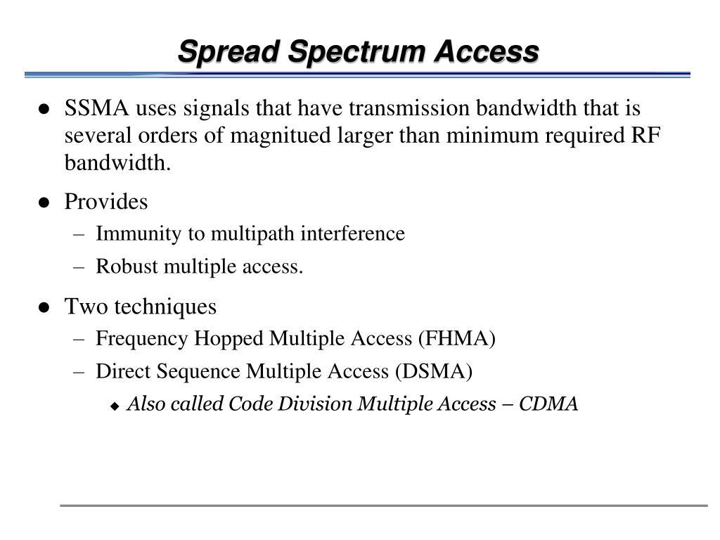 Spread Spectrum Access