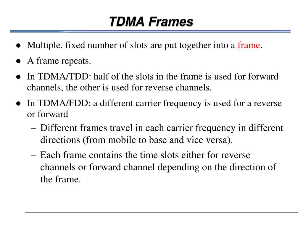 TDMA Frames