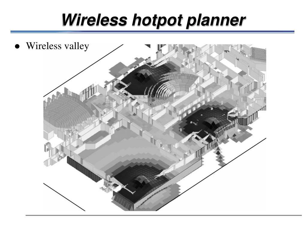 Wireless hotpot planner