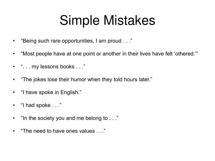 Simple Mistakes