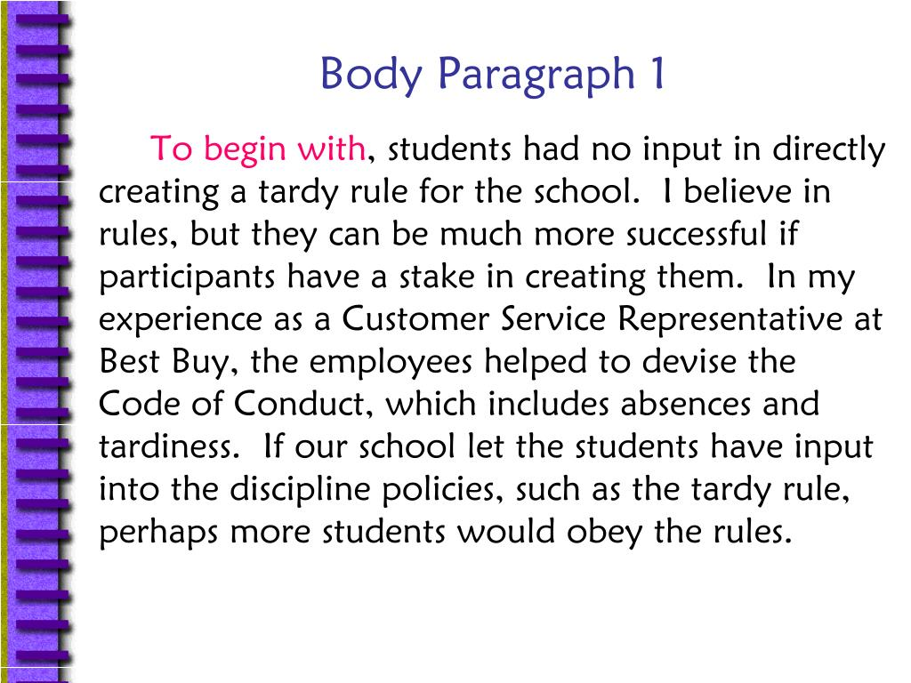 Body Paragraph 1