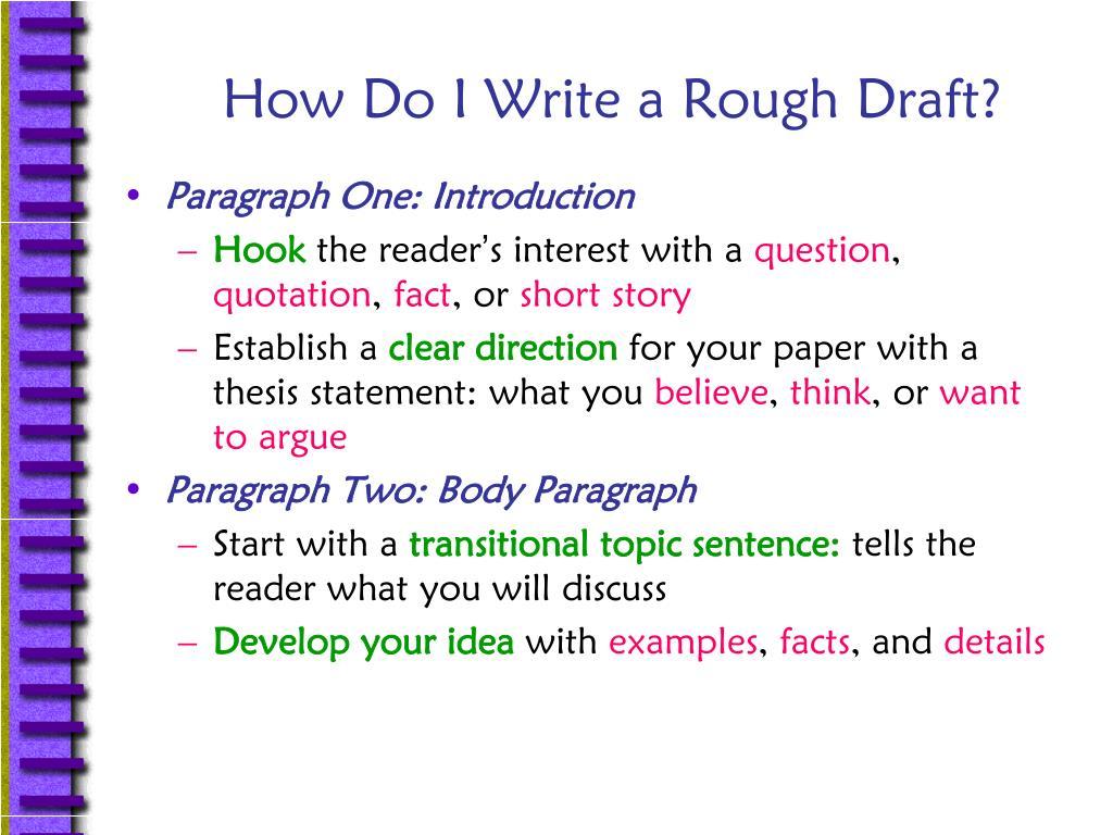 How Do I Write a Rough Draft?