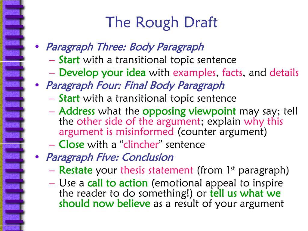 The Rough Draft
