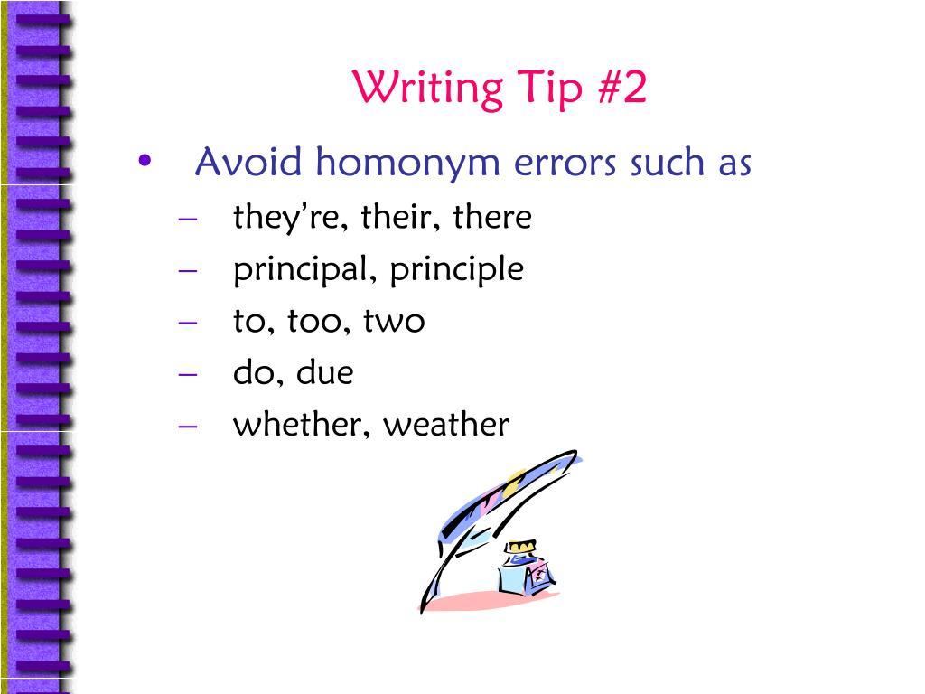 Writing Tip #2
