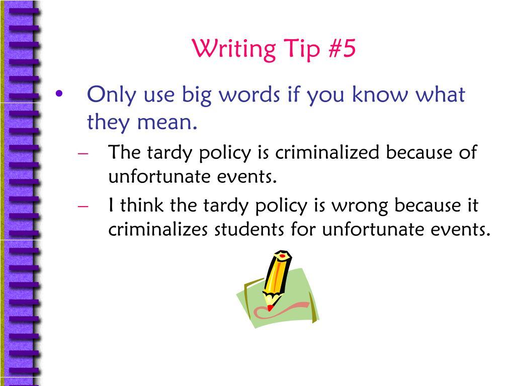 Writing Tip #5
