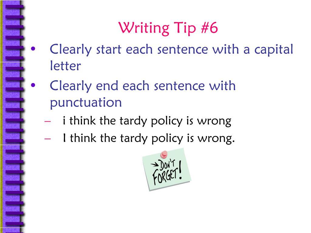 Writing Tip #6