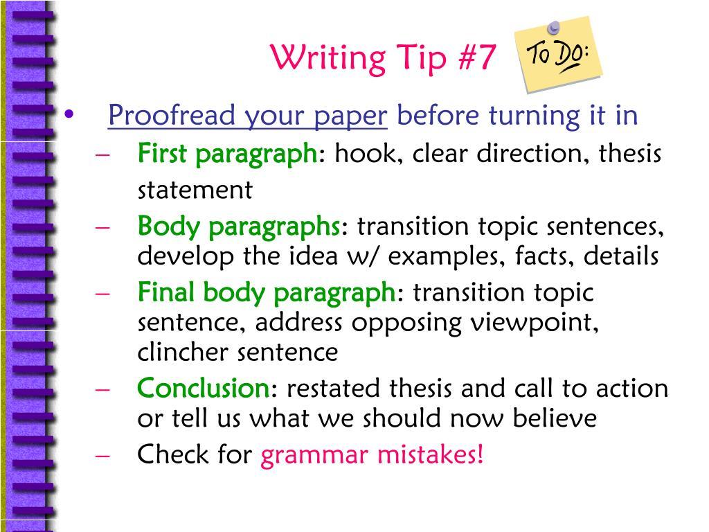 Writing Tip #7